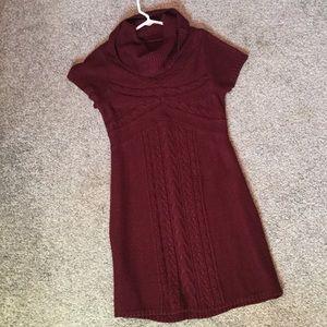 🎄DressBarn size XL maroon cowl neck sweater dress